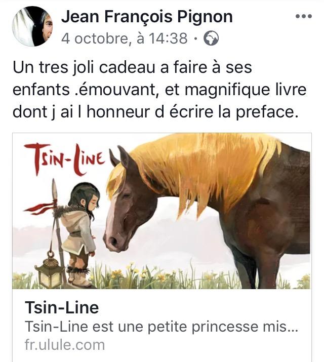 Jean Francois Pignon, préface du Livre Tsin Line